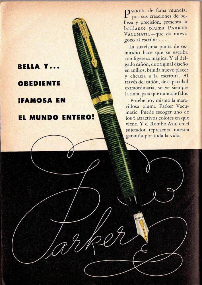 1941 12 parker vacumatic ad en español 2