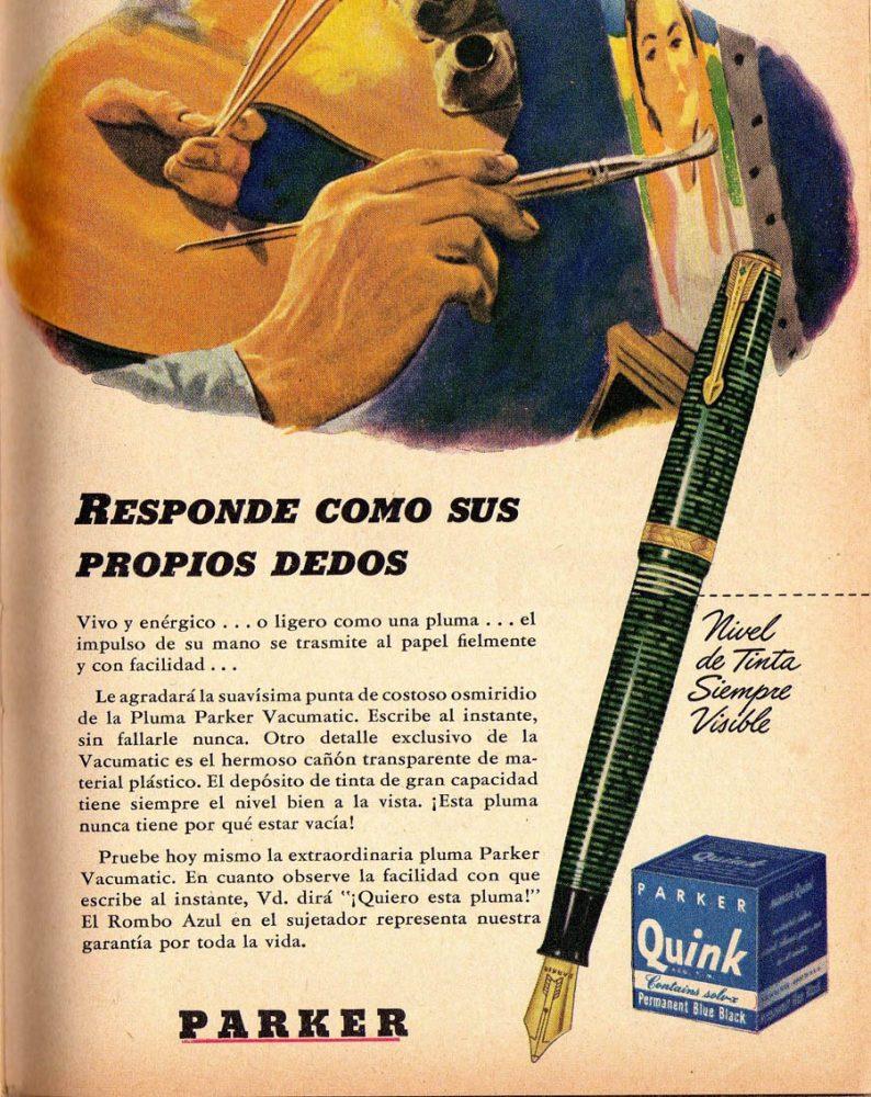 1941 12 parker vacumatic ad en español 3