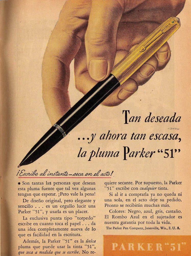 1942 12 ¿ parker 51 ad en español