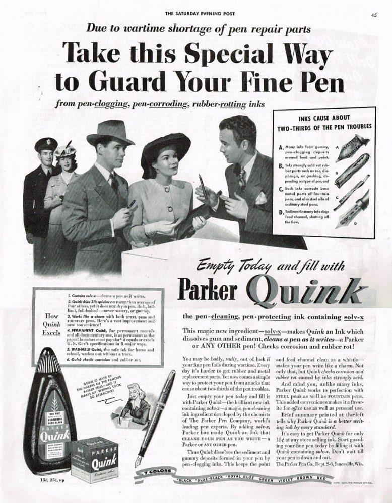 1942 Parker Quink