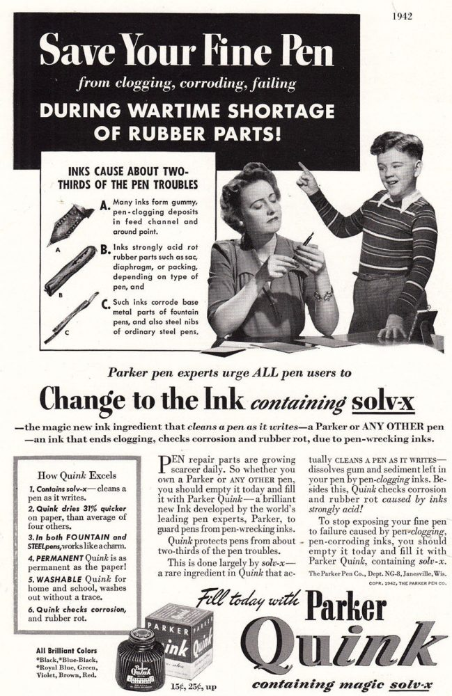 1942 parker ad