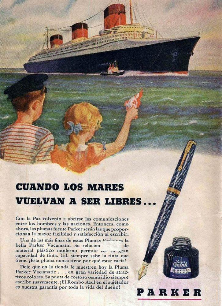 1944 vacumatic anuncio en español