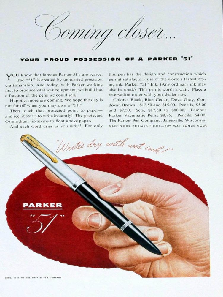 1945 Parker 51 coming closer