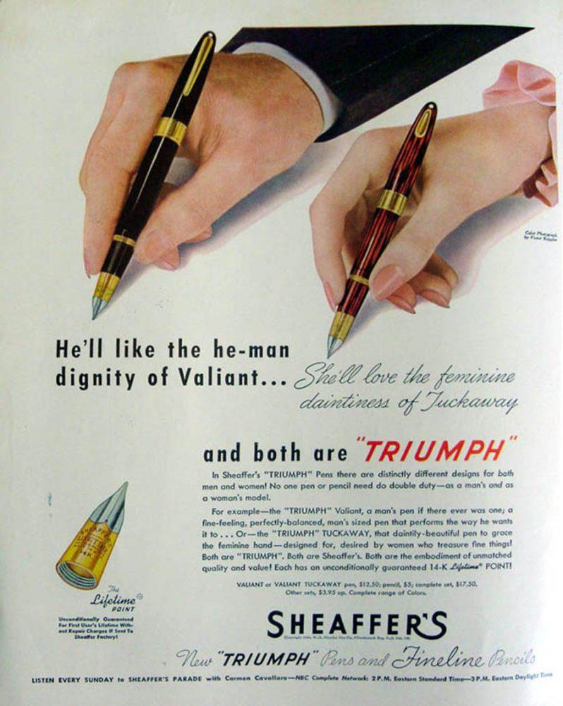 1946 SHEAFFER 1946 TUCKAWAY 1946 AD