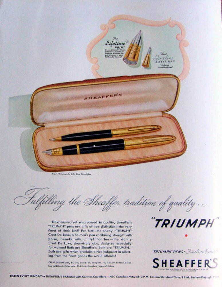 1946 SHEAFFER AD