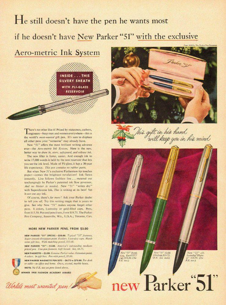 1950 Parker 51 aerometric 1