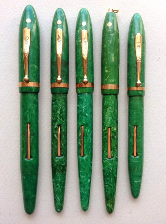 Sheaffer´S Balance jade green. Courtesy of Luiz Leite.