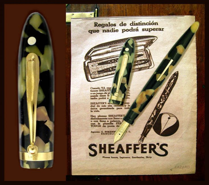 Sheaffer´S Balance K85TC trimmed clip and cap band with solid gold 14 k.