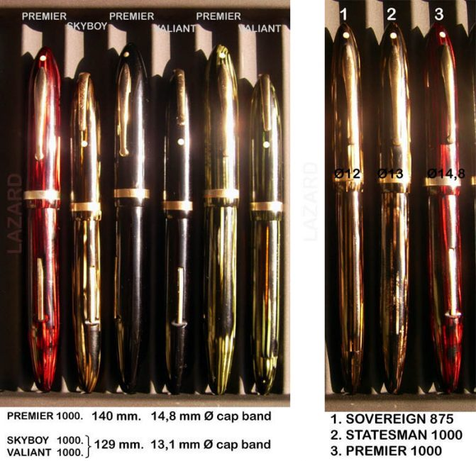 Comparison between oversize Premier and Skyboy, Valiant, Sovereign and Statesman